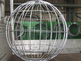 Aluminium globe made by White Cross Ring
