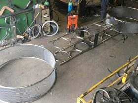 Parts for a circus prop fabricated by White Cross Ring