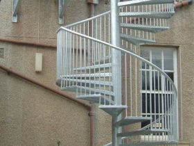 Galvanised spiral staircase by White Cross Ring