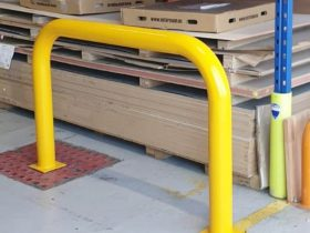 Yellow barrier made by White Cross Ring