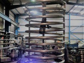Welding a spiral in the workshop