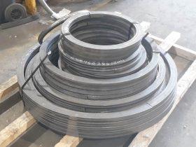 White Cross Ring flat bar rolled rings
