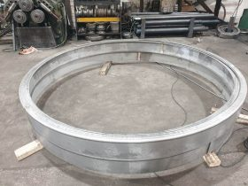 Section bent ring in the workshop