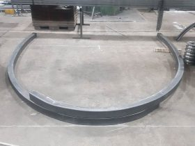 Metal section stock bent by White Cross Ring