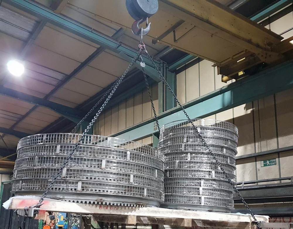 Lifting up fabricated parts