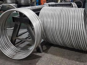 Tube section rolled rings in the workshop